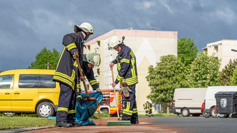 Kilometerlange Dieselspur fordert Feuerwehren im Weimarer Land